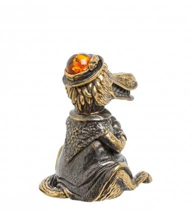 AM-1550 Колокольчик  Тетя Лошадь   латунь, янтарь