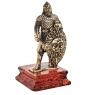 AM-1571 Фигурка  Рыцарь Славянский воин   латунь, янтарь