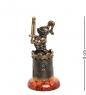 AM-1588 Фигурка  Рыцарь на подставке   латунь, янтарь