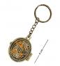 AM-1611 Брелок  Медальон Лоза   латунь, янтарь