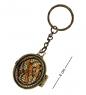 AM-1613 Брелок  Медальон Вьюнок   латунь, янтарь