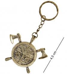 AM-1622 Брелок «Щит с топорами»  латунь