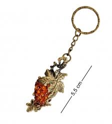 AM-1623 Брелок «Виноград»  латунь, янтарь