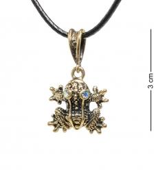 AM-1693 Подвеска «Лягушонок»  латунь, янтарь