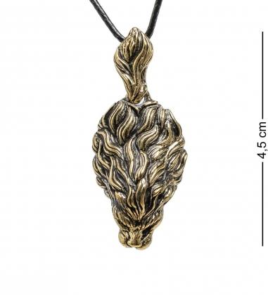 AM-1736 Подвеска  Малифисента   латунь, янтарь