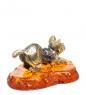 AM-1751 Фигурка  Кот Турецкий ван   латунь, янтарь