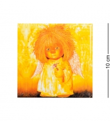 ANG- 09 Магнит «Ангел с гиацинтом» 10х10