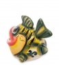 ГЛ-443 Фигурка  Рыба  бол. цв. Гжельский фарфор