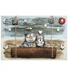 KK-516 Панно  Коты  шамот