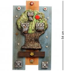 KK-531 Панно  Совы на дереве  шамот