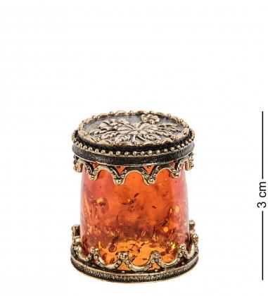 AM-1777 Наперсток  Цветы   латунь, янтарь