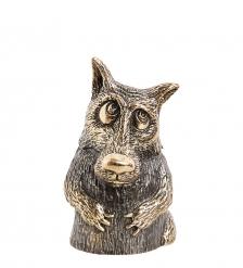 AM-1778 Фигурка  Колокольчик-Волк обаяшка   латунь