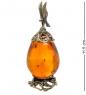 AM-1780 Фигурка  Яйцо с сапсаном   латунь, янтарь