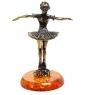 AM-1813 Фигурка  Балерина   латунь, янтарь