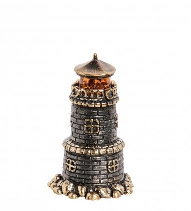 AM-1817 Фигурка  Колокольчик-Маяк   латунь, янтарь