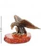 AM-1867 Фигурка  Орел со змеёй   латунь, янтарь