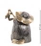 AM-1871 Фигурка  Колокольчик-Кот рыбак   латунь