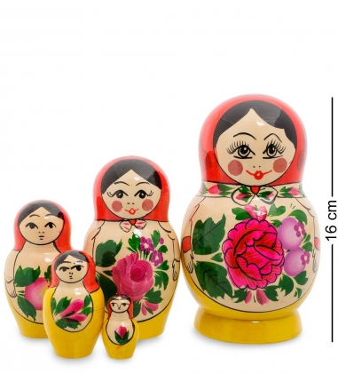 МР-10/17 Матрешка 5-кукольная D  Семеновская