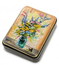ШК-55/ 82 Шкатулка «Полевые цветы» исп. Белова
