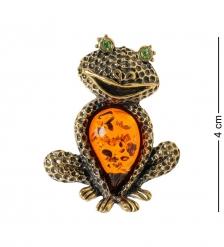 AM-1891 Подвеска Лягушка Квакушка  латунь, янтарь