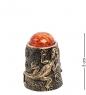 AM-1902 Наперсток  Наперсток Ящерица   латунь, янтарь