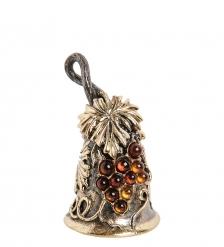 AM-1905 Фигурка  Колокольчик-Виноград   латунь, янтарь