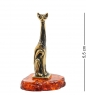 AM-1923 Фигурка  Кошка   латунь, янтарь