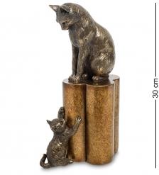 WS-883 Статуэтка «Кошка с котенком - воспитание»