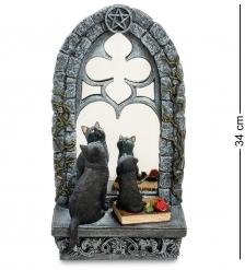 WS-885 Статуэтка «Кошка с котенком у зеркала»