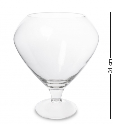 NM-24409 Ваза-бокал стеклянная 31 см  Неман