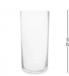 NM-27707  Ваза-цилиндр стеклянная 25 см  Неман