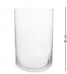 NM-24791 Ваза-цилиндр стеклянная 30 см  Неман
