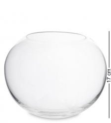 NM-23832 Ваза-шар стеклянная 17 см  Неман