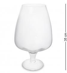 NM-24029 Ваза-бокал стеклянная 35 см  Неман