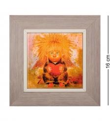 ANG-102 Панно керамическое «Ангел любящего сердца» 10х10
