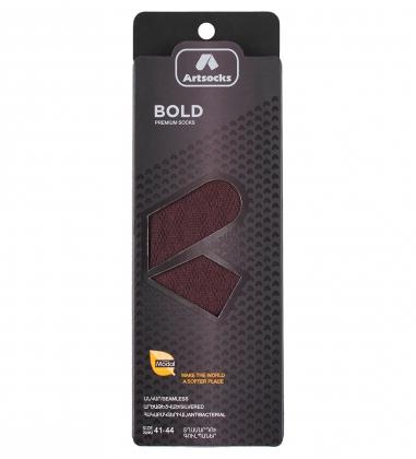 Носки мужские Bold ASUM-0002 41-44 коричневый  Artsocks