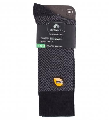 Носки мужские Dark Breeze ASUM-0010  40-42 черно-серый  Artsocks
