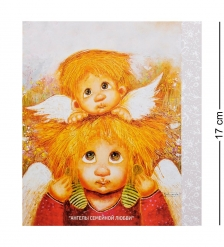 ANG-130 Открытка «Ангел семейной любви» 15х17