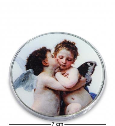 pr-M06BO Зеркальце Амур и Психея Дети В.А.Бугро  Museum.Parastone