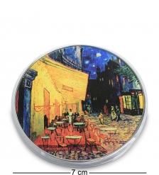 pr-M08GO Зеркальце  Терраса Кафе Ле Сойр  Ван Гог  Museum.Parastone