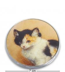 pr-M17RK Зеркальце  Пробуждение котенка  Генриетта Роннер-Книп  Museum.Parastone