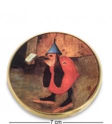pr-M25JB Зеркальце  Искушение Св.Антония  Босх, фрагмент  Museum.Parastone