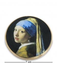 pr-M28VE Зеркальце  Девушка с жемчужной сережкой  Ян Вермеер  Museum.Parastone