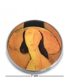 pr-M29MO Зеркальце  Портрет Жанны Эбютерн в большой шляпе  Амедео Модильяни  Museum.Parastone