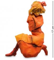 pr-SCH02 Статуэтка  Женщина в красно-оранжевом платье  Эгон Шиле  Museum.Parastone