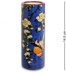 pr-TC09HOK Подсвечник Bullfinch and Blossoms Кацусика Хокусай  Museum Parastone