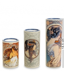 pr-TS04MU Набор подсвечников «Cowslip - The Arts - Byzantine» Альфонс Муха  Museum Parastone