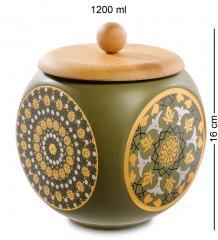 TJ-09 Керамическая банка бол. с крышкой из бамбука - Вариант A