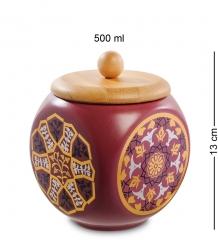 TJ-10 Керамическая банка мал. с крышкой из бамбука - Вариант A