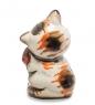 Фотография ГЛ-458 Фигурка  Кот обжора  цв.  Гжельский фарфор №2
